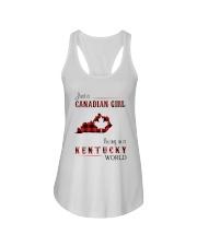 CANADIAN GIRL LIVING IN KENTUCKY WORLD Ladies Flowy Tank thumbnail
