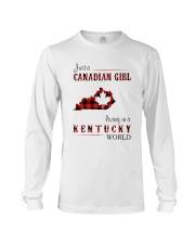 CANADIAN GIRL LIVING IN KENTUCKY WORLD Long Sleeve Tee thumbnail