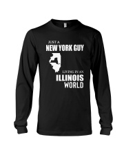 JUST A NEW YORK GUY LIVING IN ILLINOIS WORLD Long Sleeve Tee thumbnail