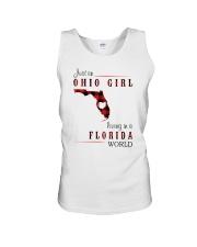 OHIO GIRL LIVING IN FLORIDA WORLD Unisex Tank thumbnail