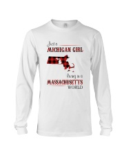 MICHIGAN GIRL LIVING IN MASSACHUSETTS WORLD Long Sleeve Tee thumbnail