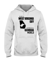 JUST A WV GUY LIVING IN GEORGIA WORLD Hooded Sweatshirt thumbnail