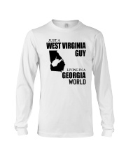 JUST A WV GUY LIVING IN GEORGIA WORLD Long Sleeve Tee thumbnail