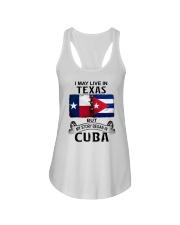 LIVE IN TEXAS BEGAN IN CUBA Ladies Flowy Tank thumbnail