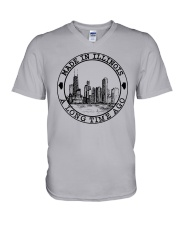 MADE IN ILLINOIS A LONG TIME AGO V-Neck T-Shirt thumbnail