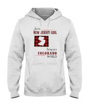 JERSEY GIRL LIVING IN COLORADO WORLD Hooded Sweatshirt thumbnail