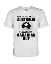 CANADIAN GUY LIFE TOOK TO AUSTRALIA V-Neck T-Shirt thumbnail