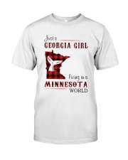 GEORGIA GIRL LIVING IN MINNESOTA WORLD Classic T-Shirt front
