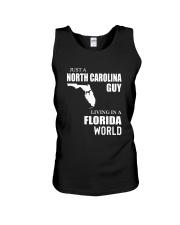 JUST A NORTH CAROLINA GUY LIVING IN FLORIDA WORLD Unisex Tank thumbnail