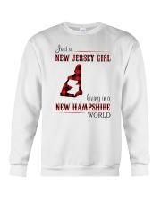 JERSEY GIRL LIVING IN NEW HAMPSHIRE WORLD Crewneck Sweatshirt thumbnail