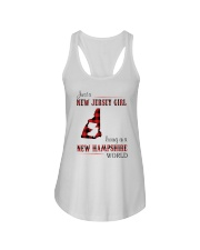 JERSEY GIRL LIVING IN NEW HAMPSHIRE WORLD Ladies Flowy Tank thumbnail