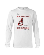 JERSEY GIRL LIVING IN NEW HAMPSHIRE WORLD Long Sleeve Tee thumbnail