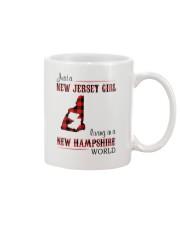 JERSEY GIRL LIVING IN NEW HAMPSHIRE WORLD Mug thumbnail