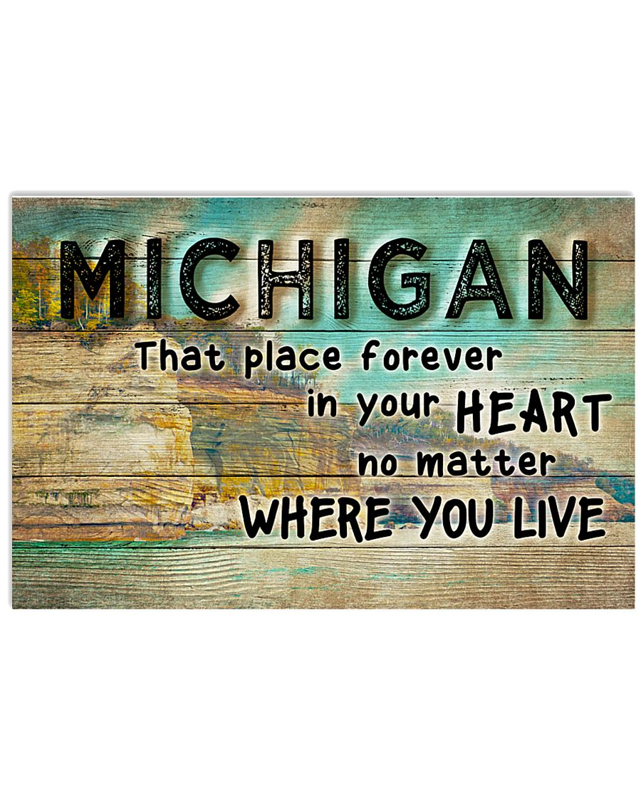 MICHIGAN THAT PLACE FOREVER IN YOUR HEART 17x11 Poster