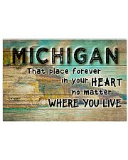 MICHIGAN THAT PLACE FOREVER IN YOUR HEART 17x11 Poster front