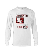 LOUISIANA GIRL LIVING IN COLORADO WORLD Long Sleeve Tee thumbnail