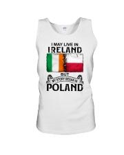 LIVE IN IRELAND BEGAN IN POLAND Unisex Tank thumbnail