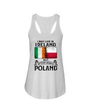 LIVE IN IRELAND BEGAN IN POLAND Ladies Flowy Tank thumbnail