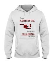 MARYLAND GIRL LIVING IN OKLAHOMA WORLD Hooded Sweatshirt thumbnail