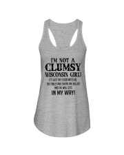 I'M NOT A CLUMSY WISCONSIN GIRL  Ladies Flowy Tank thumbnail