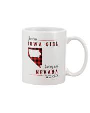 IOWA GIRL LIVING IN NEVADA WORLD Mug thumbnail