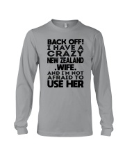 BACK OFF I HAVE A CRAZY NEW ZEALAND WIFE Long Sleeve Tee thumbnail