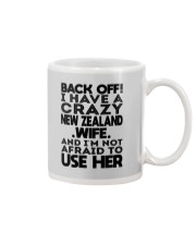 BACK OFF I HAVE A CRAZY NEW ZEALAND WIFE Mug thumbnail