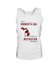 MINNESOTA GIRL LIVING IN MICHIGAN WORLD Unisex Tank thumbnail