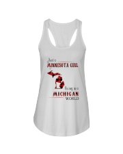 MINNESOTA GIRL LIVING IN MICHIGAN WORLD Ladies Flowy Tank thumbnail