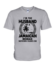 I'M THE HUSBAND OF A JAMAICAN WOMAN V-Neck T-Shirt thumbnail