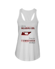 OKLAHOMA GIRL LIVING IN TENNESSEE WORLD Ladies Flowy Tank thumbnail