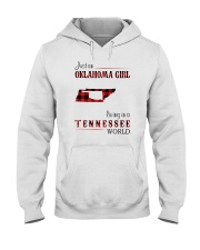 OKLAHOMA GIRL LIVING IN TENNESSEE WORLD Hooded Sweatshirt thumbnail