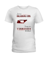 OKLAHOMA GIRL LIVING IN TENNESSEE WORLD Ladies T-Shirt thumbnail