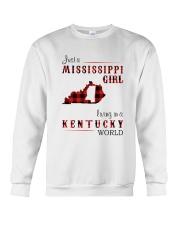 MISSISSIPPI GIRL LIVING IN KENTUCKY WORLD Crewneck Sweatshirt thumbnail