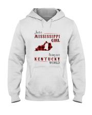 MISSISSIPPI GIRL LIVING IN KENTUCKY WORLD Hooded Sweatshirt thumbnail