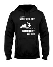 JUST A MINNESOTA GUY LIVING IN KENTUCKY WORLD Hooded Sweatshirt thumbnail