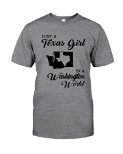 JUST A TEXAS GIRL IN A WASHINGTON WORLD Classic T-Shirt tile