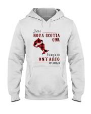 NOVA SCOTIA GIRL LIVING IN ONTARIO WORLD Hooded Sweatshirt thumbnail