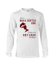 NOVA SCOTIA GIRL LIVING IN ONTARIO WORLD Long Sleeve Tee thumbnail