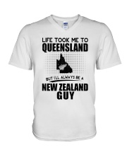 NEW ZEALAND GUY LIFE TOOK TO QUEENSLAND V-Neck T-Shirt thumbnail