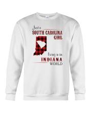 SOUTH CAROLINA GIRL LIVING IN INDIANA WORLD Crewneck Sweatshirt thumbnail
