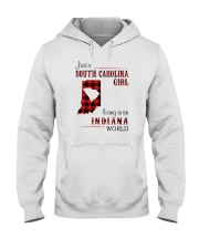 SOUTH CAROLINA GIRL LIVING IN INDIANA WORLD Hooded Sweatshirt thumbnail