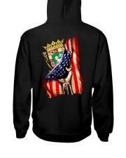 PUERTO RICO AMERICA FLAG Hooded Sweatshirt back