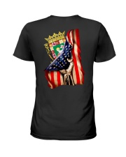 PUERTO RICO AMERICA FLAG Ladies T-Shirt thumbnail