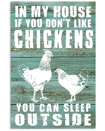 IF YOU DON'T LIKE CHICKENS YOU CAN SLEEP OUTSIDE