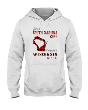 SOUTH CAROLINA GIRL LIVING IN WISCONSIN WORLD Hooded Sweatshirt tile