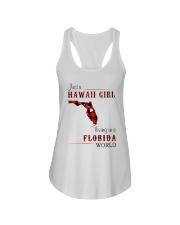 HAWAII GIRL LIVING IN FLORIDA WORLD Ladies Flowy Tank thumbnail