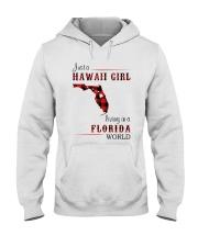 HAWAII GIRL LIVING IN FLORIDA WORLD Hooded Sweatshirt thumbnail