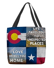 TEXAS COLORADO LOVE BRINGS YOU HOME All-over Tote thumbnail
