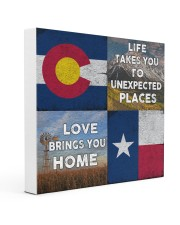 TEXAS COLORADO LOVE BRINGS YOU HOME 16x16 Gallery Wrapped Canvas Prints front